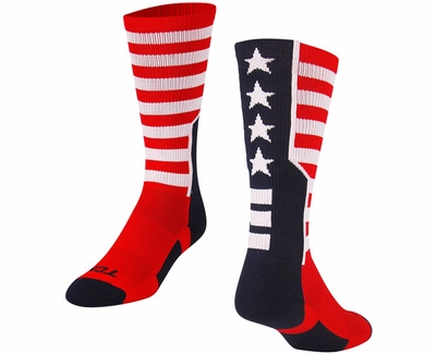 USA Stars & Stripes Performance Crew Socks