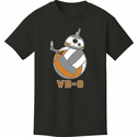 VB-8 Droid Robot Design Black Volleyball T-Shirt