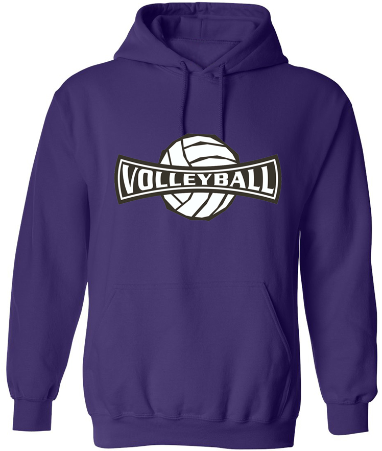 Volleyball Banner Design Hooded Sweatshirt In Choice Of 20