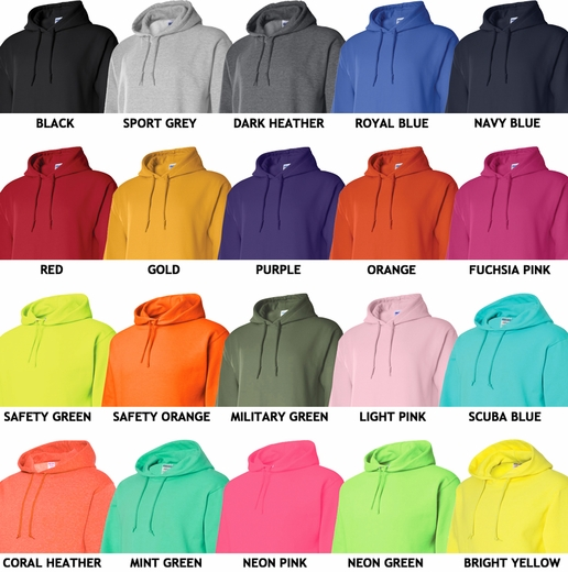 Volleyball Bridge Design Hooded Sweatshirt - in 20 Hoodie Colors