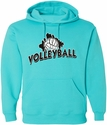 Volleyball Brush Design Hooded Sweatshirt - in 20 Hoodie Colors