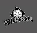 Volleyball Brush Design T-Shirt - in 22 Shirt Colors