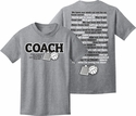 Volleyball Coachisms & Sayings Design Grey T-Shirt