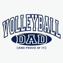 Volleyball Dad & Grandpa, Proud Of It Hooded Sweatshirt - in 20 Hoodie Colors