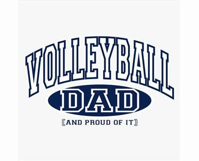 Volleyball Dad, Proud Of It Design Long Sleeve Shirt - in 20 Shirt Colors