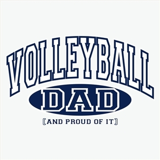 Volleyball Dad, Proud Of It Design Long Sleeve Shirt - in 18 Shirt Colors