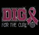 Volleyball Dig for the Cure Pink Ribbon Glitter Rhinestone Fitted Shirt