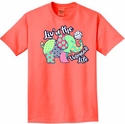 Volleyball T-Shirt - Elephant Design Neon Coral Short Sleeve