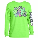 Volleyball Elephant Design Neon Green Long Sleeve Shirt