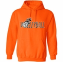 Volleyball Flames Design Hooded Sweatshirt - in 20 Hoodie Colors