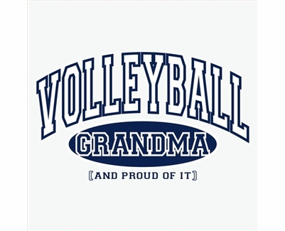 Volleyball Grandma, Proud Of It Design Long Sleeve Shirt - in 20 Shirt Colors