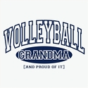 Volleyball Grandma, Proud Of It Design T-Shirt - in 22 Shirt Colors