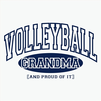 Volleyball Grandma, Proud Of It Design Long Sleeve Shirt - in 18 Shirt Colors