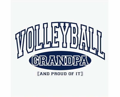 Volleyball Grandpa, Proud Of It Design Long Sleeve Shirt - in 20 Shirt Colors