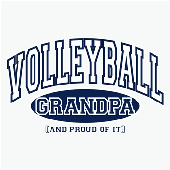 Volleyball Grandpa, Proud Of It Design Long Sleeve Shirt - in 18 Shirt Colors