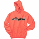 Volleyball Magneto Script Hooded Sweatshirt - in 20 Hoodie Colors