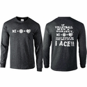 Volleyball Math Design Black Heather Long Sleeve Shirt