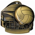 Volleyball Medal with Net