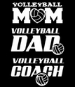 Volleyball Mom / Dad / Coach Window Decal