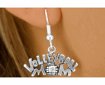 Volleyball Mom Fishhook Earrings