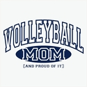 Volleyball Mom & Grandma, Proud Of It Hooded Sweatshirt - in 20 Hoodie Colors