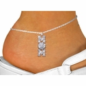 Volleyball Mom Multi-Crystal Charm Anklet