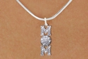 Volleyball Mom Multi-Crystal Charm Silver Necklace