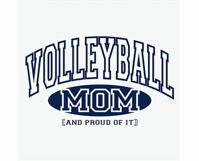 Volleyball Mom, Proud Of It Design Long Sleeve Shirt - in 20 Shirt Colors