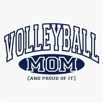 Volleyball Mom, Proud Of It Design Long Sleeve Shirt - in 18 Shirt Colors