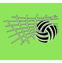 Volleyball Net & Ball Design Long Sleeve Shirt - in 20 Shirt Colors