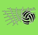 Volleyball Net & Ball Design T-Shirt - in 22 Shirt Colors