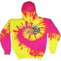 Volleyball Net & Ball Design Tie Dye Hooded Sweatshirt - in 4 Hoodie Colors