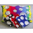 Volleyball Pattern Fleece Pillow Cases in Lots of Colors