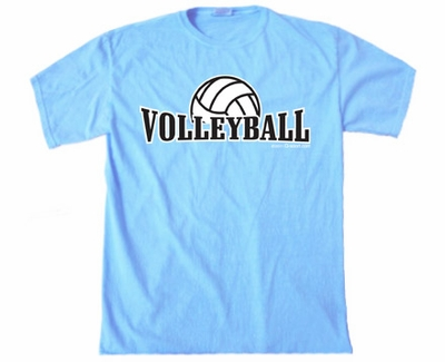 Volleyball Rising Design T-Shirt - in 22 Shirt Colors