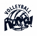 Volleyball Rocks! Design Discount Long Sleeve Shirt - in 3 Shirt Colors
