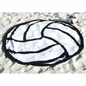 Volleyball Shaped Beach Towel / Blanket