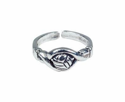 Volleyball Silver Pinky / Toe Ring