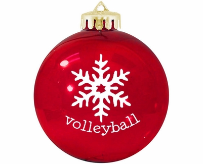 Volleyball Snowflake Tree Ornament - in 4 Colors