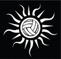 Volleyball Sun Window Decal