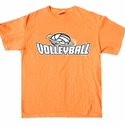 Volleyball Swirl Design T-Shirt - in 22 Shirt Colors