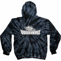 Volleyball Swirl Design Tie Dye Hooded Sweatshirt - in 6 Hoodie Colors