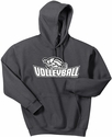 Volleyball Swirl Design Hooded Sweatshirt - in 20 Hoodie Colors