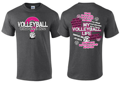 Volleyball Design Dark Grey T Shirt