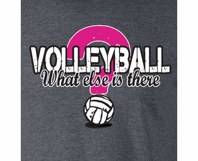 What Else Is There? Volleyball Design Heather Grey T-Shirt
