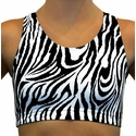 Black & White Zebra Stripe Sport Bras