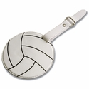 White Volleyball Luggage Tag