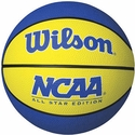 Wilson NCAA Blue & Yellow Mini Rubber Basketball