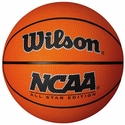 Wilson NCAA Orange Mini Rubber Basketball