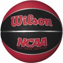 Wilson NCAA Red & Black Mini Rubber Basketball