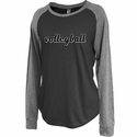 Women's Black & Grey Jersey Raglan Long Sleeve Volleyball Shirt